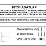 Adókártya igénylés: 16T34 és 17T34 nyomtatvány pdf letöltés, segítség a kitöltésben